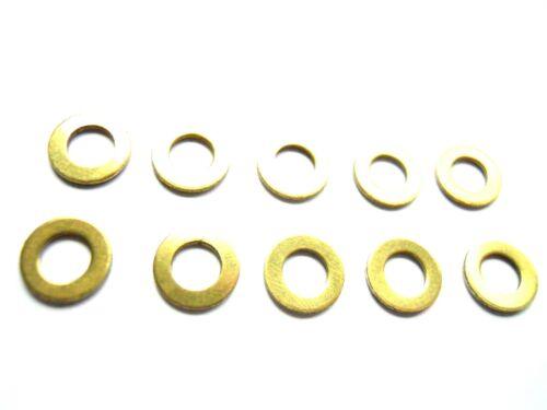 Unterlegscheiben DIN 125 Messing für M5  U-Scheibe 10 Stück Durchmesser 10 mm