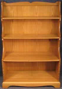 Ercol-Elm-Kendal-Bookcase-Bookshelves-In-Special-Light-Finish