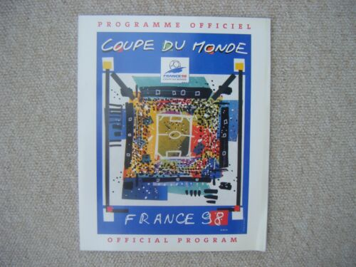 1998 World Cup Finals in France Official Tournament Program