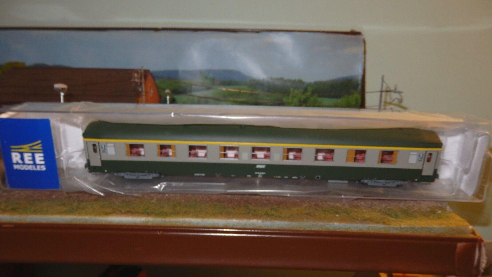 REE Modeles VB-123 UIC-Y 1 CL.  A9 livrea verde 302/grigio beton, logo encadré