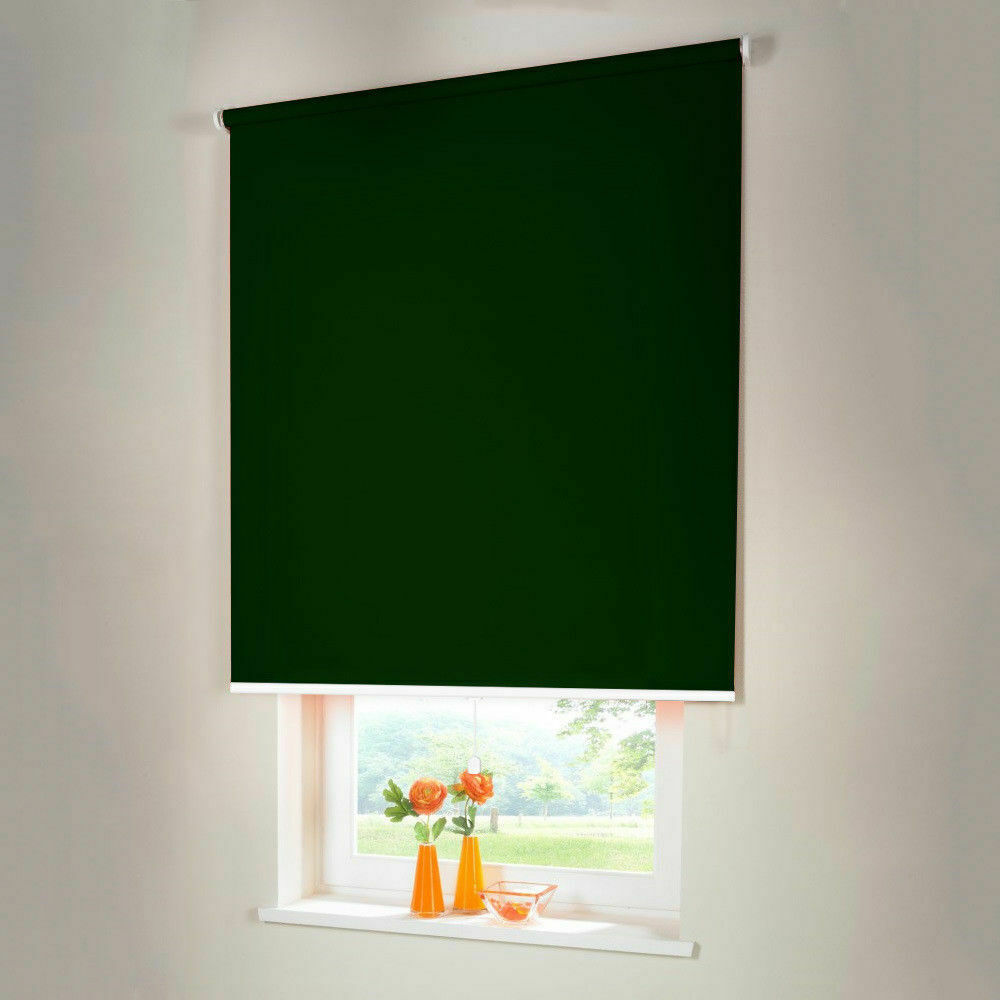 Persiana para oscurecer mittelzugrollo Spring persiana persiana de-altura 210 cm verde oscuro