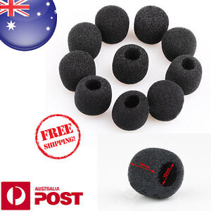 2-x-Black-Small-Foam-Covers-Windshield-for-Lavalier-Headset-Lapel-Mic-Z014F