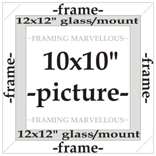 Choose size Metallic Bronze Effect Photo Picture Frame with Ivory Mount