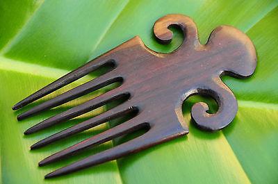 2 Prongs Wooden Wood HAIR STICK FORK PIN PICK Wavy Grip Handmade Eco Friendly.