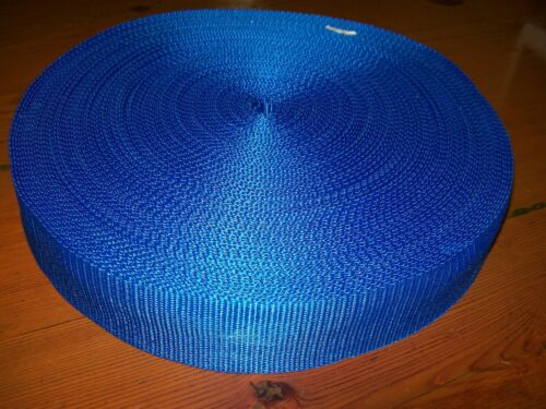 "1 50mtr ROLL 38mm 112"" POLYPROPOLENE WEBBING BLUE"
