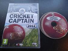 INTERNATIONAL CRICKET CAPTAIN 2012 PC V.G.C. FAST POST ( cricket management game