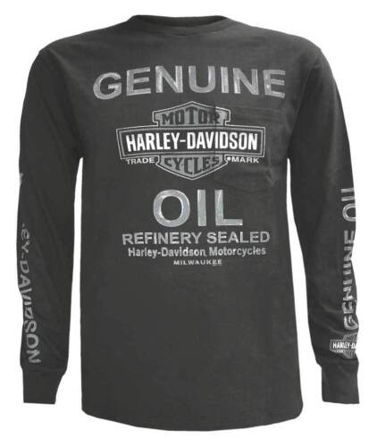 Harley-Davidson Men/'s Raging Chrome Chest Pocket Long Sleeve Shirt 5L37-HF5R