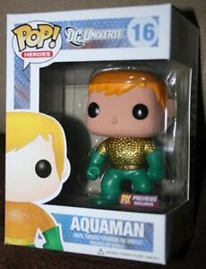 Aquaman New 52 Previews Exclusive Pop! Vinyl Figure Metallic In Hand Minty DC