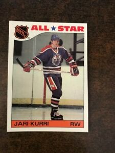 1985-86-Topps-Hockey-All-Star-Insert-Sticker-Jari-Kurri-3-Edmonton-Oilers