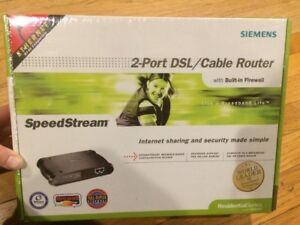 Siemens-SpeedStream-2-Port-DSL-Cable-Router-SS2602-NEW