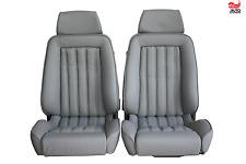 2 Recaro ergomed Leder oriongrau Mercedes R107 SL Sitze Sportsitze neu bezogen