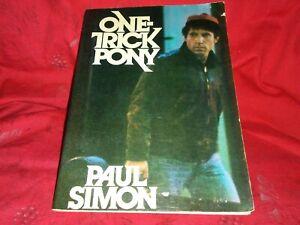 One-Trick-Pony-Paul-Simon-1980-1st-Ed-Pb-Film-Screenplay-Movie-Tie-In
