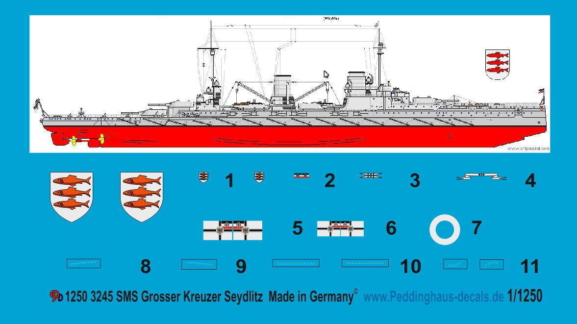 Peddinghaus 1 1250 3245 SMS Grande Crucero seydlitz