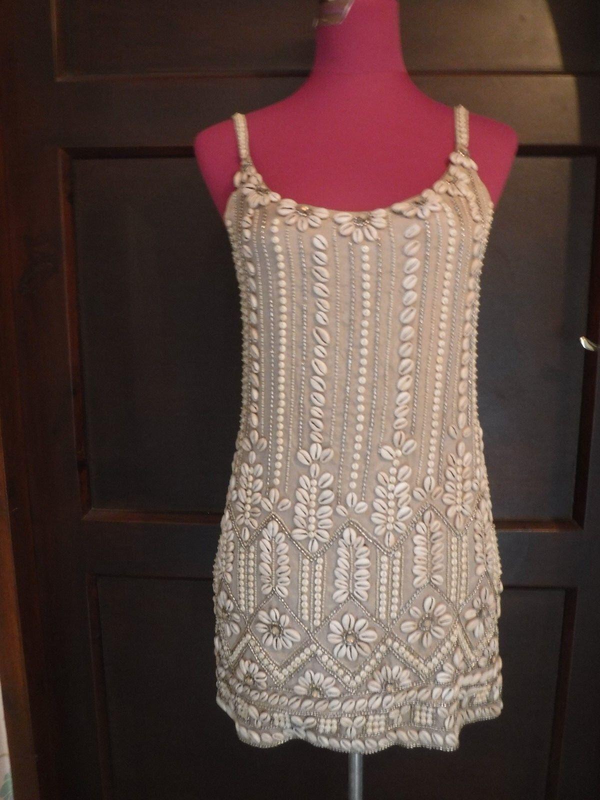 Stunning  All Saints Skallein Shell Sequin Dress Größe 8 Excellent Condition