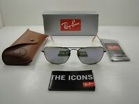 Ray-ban Caravan Sunglasses Rb3136 167/4k Bronze Copper/lilac Mirror Lens 58mm on sale
