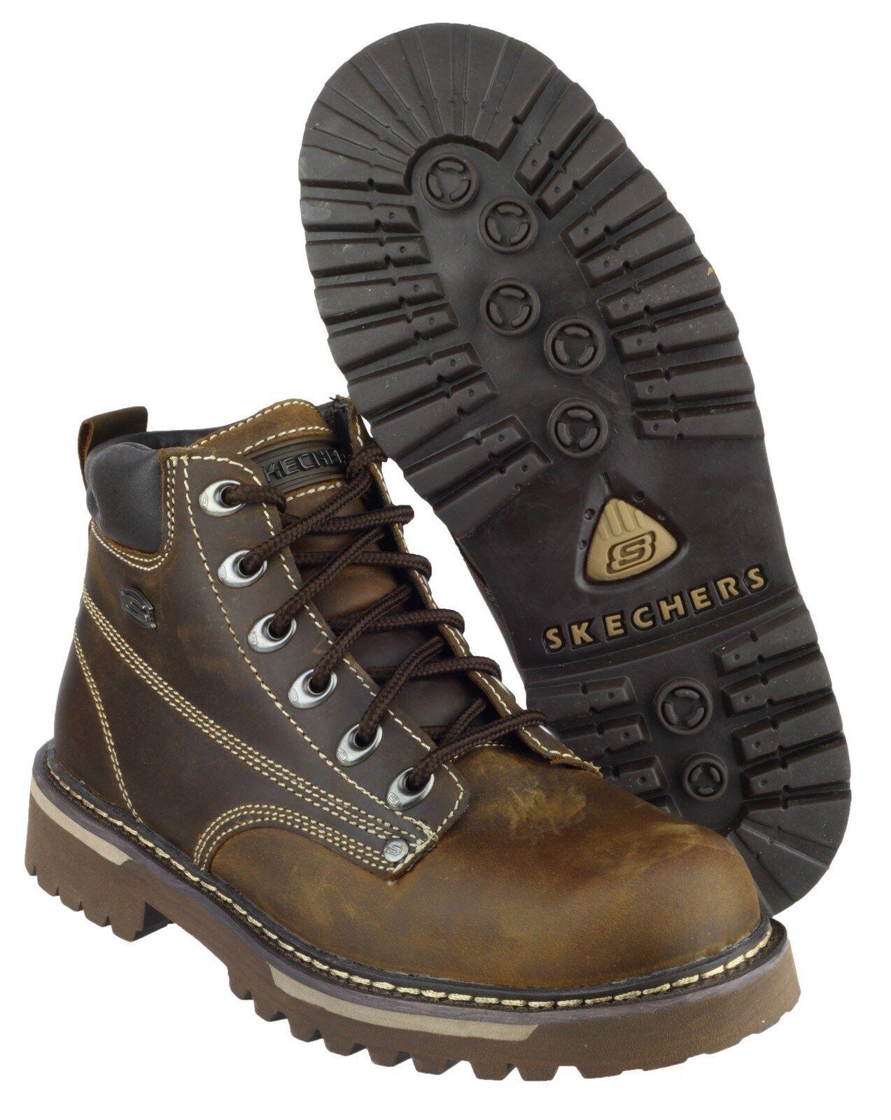 Skechers Cool Cat Bully II 2 para Hombre Marrón Cuero botas Zapatos SK4479 UK6-12