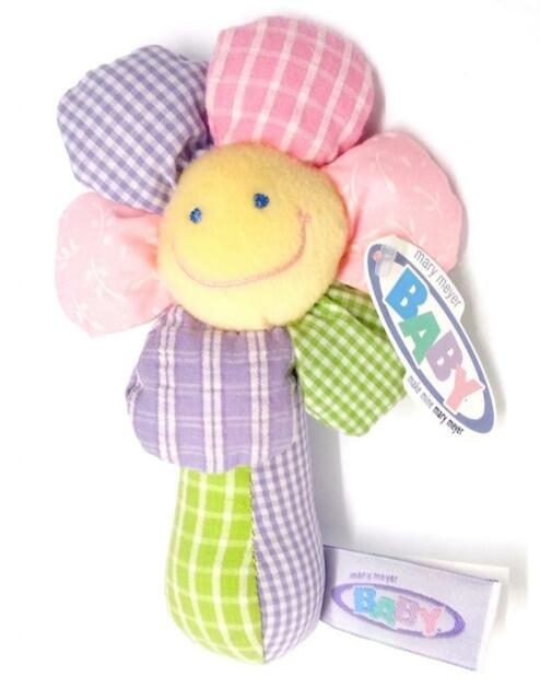 Mary Meyer Baby - Little Bloomers Rattle - Soft Plush Toy Beautifully Baby Safe