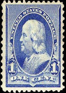 Us Postage Stamp Photo Magnet Benjamin Franklin 1890 1 Cent Ebay