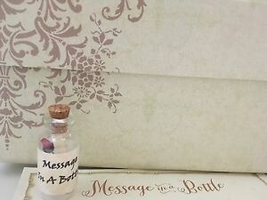 MESSAGE IN A BOTTLE PARTY INVITE SAVE THE DATE CARD GIFT PRESENT KEEPSAKE - Ashford Kent, GB, United Kingdom - MESSAGE IN A BOTTLE PARTY INVITE SAVE THE DATE CARD GIFT PRESENT KEEPSAKE - Ashford Kent, GB, United Kingdom