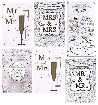Iniziativa Mr & Mr Matrimonio Carta O Mrs & Mrs Matrimonio. Card Vari Design 1st P & P-