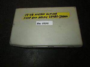 nissan altima fuse box clicking schematic diagram 1955 Chevrolet Fuse Box 07 08 nissan altima fuse box relay 284b7 ja000 *see item nissan maxima fuse box