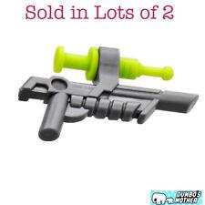 Lego 5 New Dark Bluish Gray Minifigures Weapon Gun Blaster with Clip Pieces