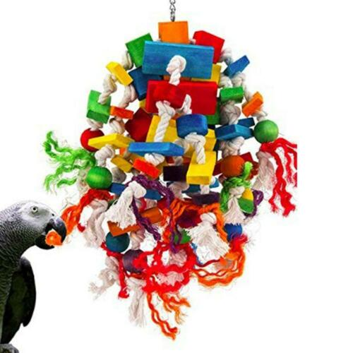 Medium and large parrot bite grind toy sunflower macaw color wooden block toy