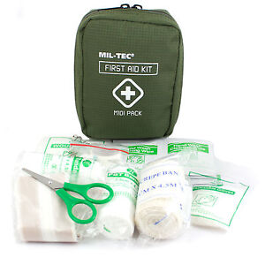 Details about Mil-Tec Military Army Cadet TA Airsoft EDC Midi First Aid Kit  Box Pack Pouch