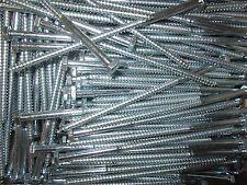 "(100) Hex Head 1/4 x 6"" Lag Bolts Zinc Plate Wood Screws"