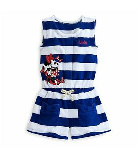 15f4106a3e956 Disney Store Girls Minnie Mouse Swimsuit Beach Pool Cover Up Size 2 ...