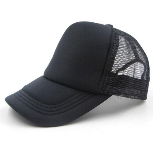 Plain Baseball Cap Solid Trucker Mesh Blank Curved Visor Hat Adjustable Hunt k