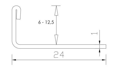 250cm//12,5mm Edelstahl gebürstet Fliesenschiene  Winkelprofil