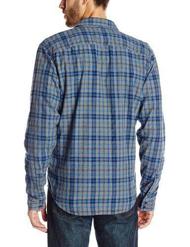 homme Griffith pour à bleu brossé en Brand carreaux Lucky de travail Xxl coton Chemise ZFAqpxO