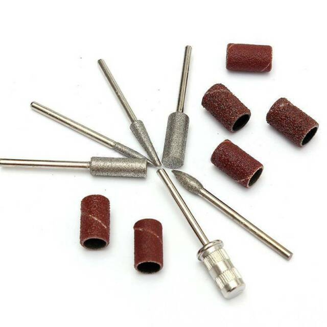 Nail Art Electric Drill Bits File Kit Manicure Machine Grinding Heads Tools 6Pcs