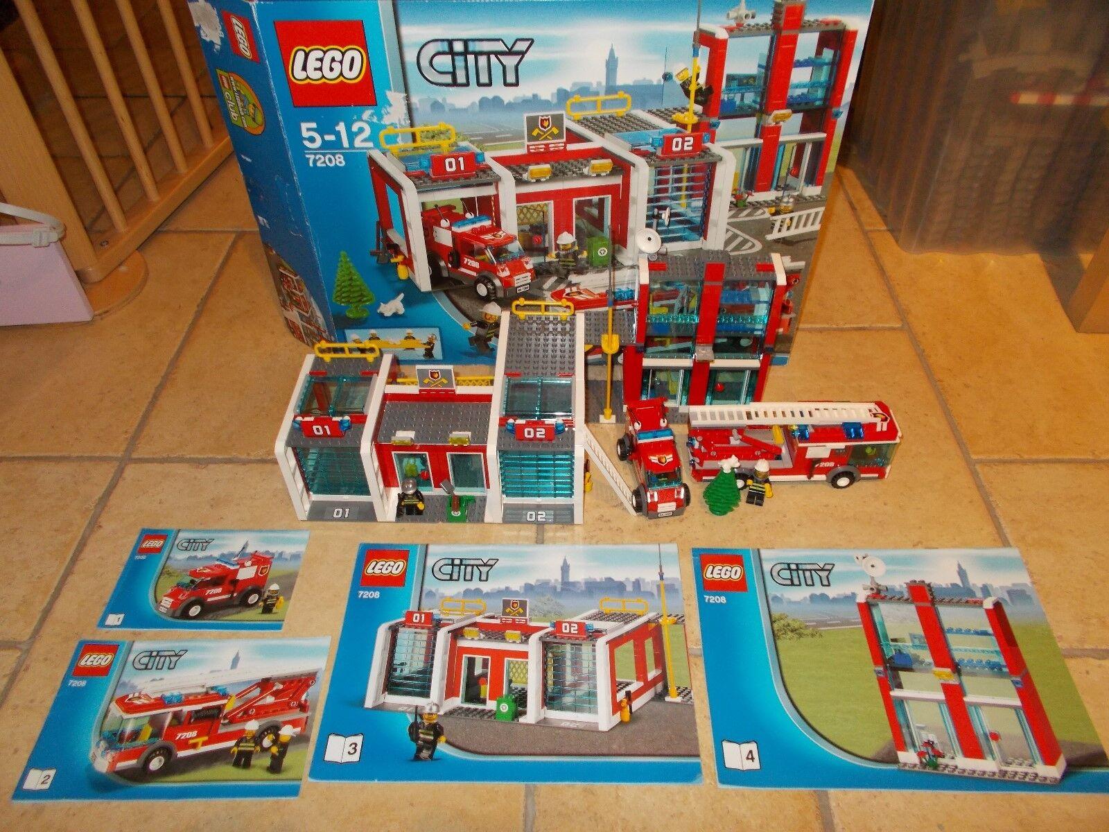 Lego ® City bomberos - 7208-gran estación de bomberos con embalaje original y ba