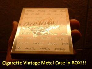 Vintage Coca Cola Soda Pop Old Coke Cigarette Compact Metal Advertising Case MIB