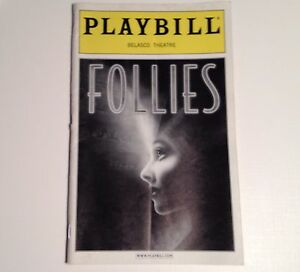 Playbill-2001-Follies-Belasco-Theatre-Blythe-Danner-Gregory-Harrison-Judith-Ivey