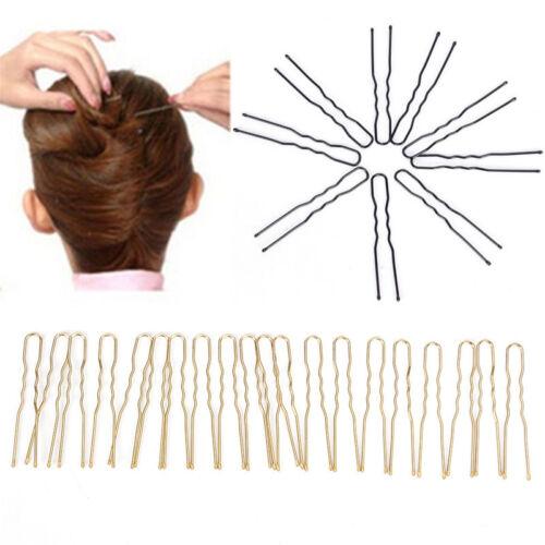20x cheveux ondulés en U-shaped Bobby pin barrette salon Grip clip épingles.FR