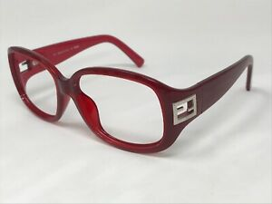 FENDI-FS5205-604-Sunglasses-Frame-Italy-56-16-120-Red-Crystal-Wrap-MS67