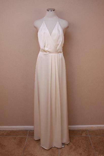 550 J Crew Manuela Gown 4 Ivory Long Dress Party Formal bride wedding