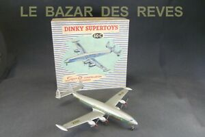 DINKY-TOYS-FRANCE-Avion-super-constellation-REF-60-C-Boite