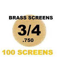 "100 3/4"" (.75"") Inch Brass Pipe Screen Tobacco Smoke Screen WITH CLIPPER LIGHTER"