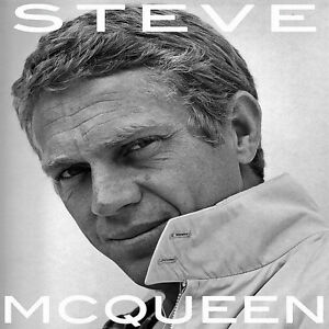 Steve McQueen Smoking King of Cool Stretched Canvas Movie Wall Art Poster Print