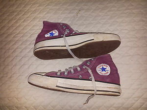 cc2d094eff89 VINTAGE CONVERSE CHUCK TAYLOR ALL STAR BURGUNDY SHOES MENS 3.5 MADE ...