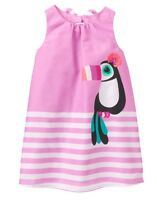 Gymboree Girl Jungle Brights Rosy Pink Toucan Dress 2t 3t 4t 5t