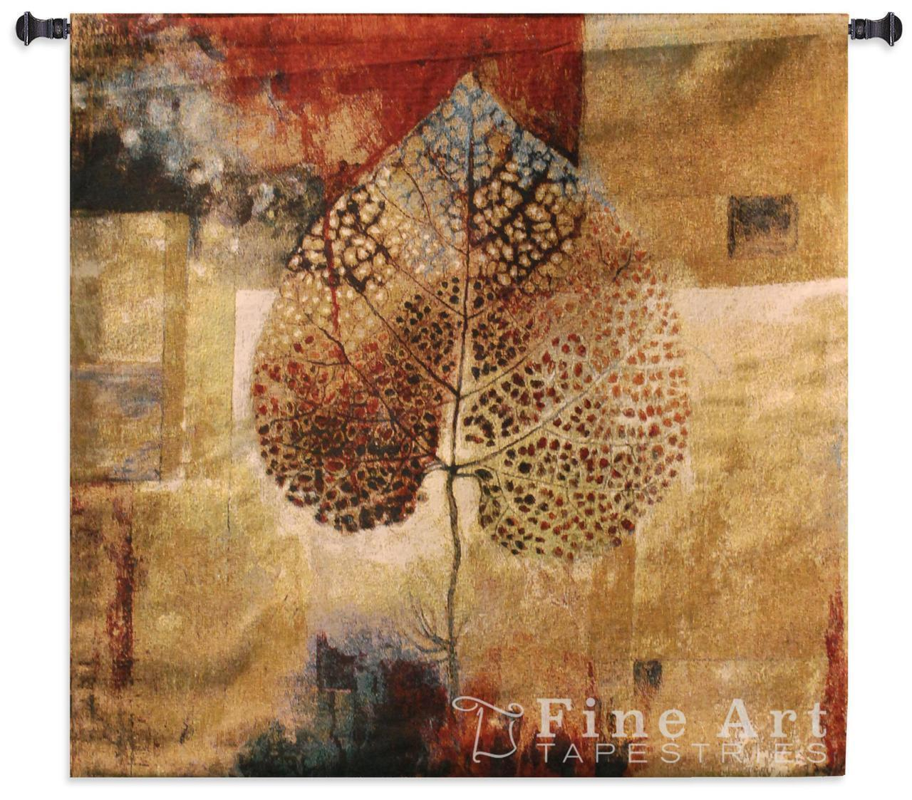 52x50 ABSTRACT AUTUMN Fall Leaf Tapestry Wand Hanging
