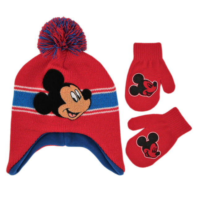 NWT Disney Cars Mcqueen Mickey Mouse Boys Toddlers Beanie Mittens sets 2T 5T