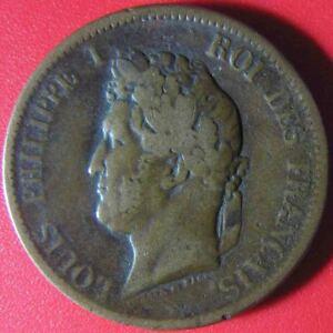1841-A-FRENCH-COLONIES-5-CENTIMES-LOUIS-PHILIPPE-PARIS-MINT-BRONZE-9-4gr-27-3mm