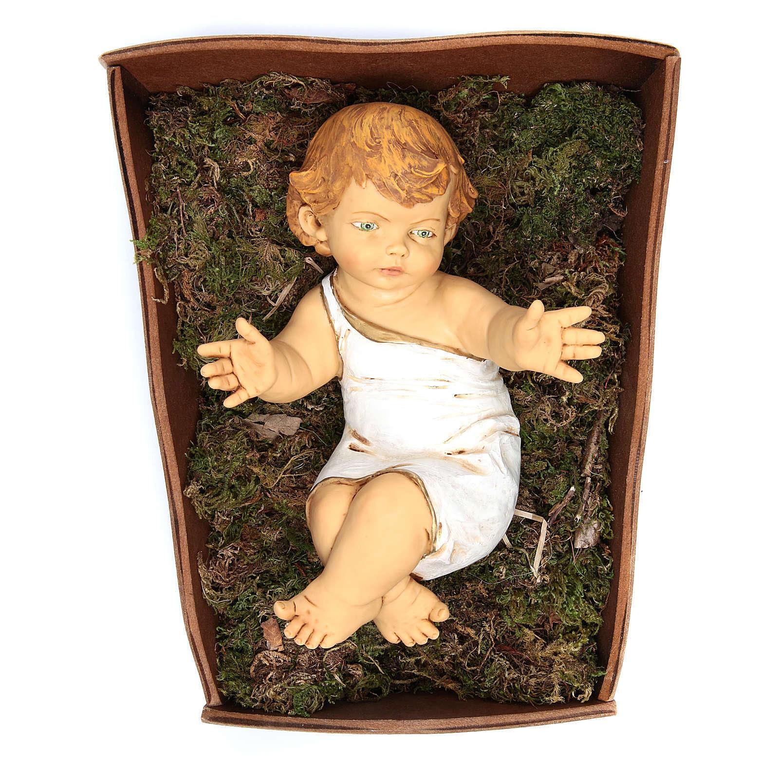 Enfant Jésus Fontanini 85 cm crèche en bois