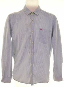 TED-BAKER-Mens-Shirt-Size-38-Medium-Multicoloured-Check-Cotton-DL15